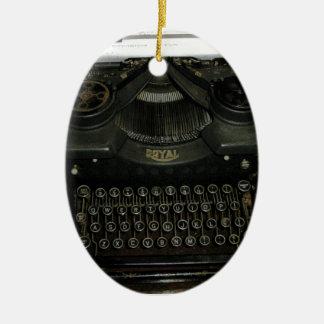 Vintage retro Schreibensmaschine, Schreibmaschine Ovales Keramik Ornament