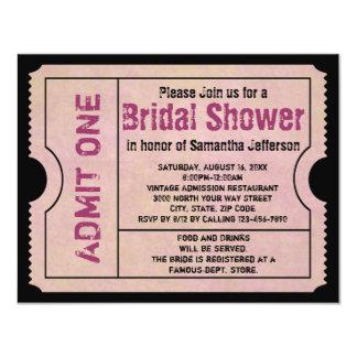 Vintage rosa Brautparty-Karten-Einladungen 10,8 X 14 Cm Einladungskarte