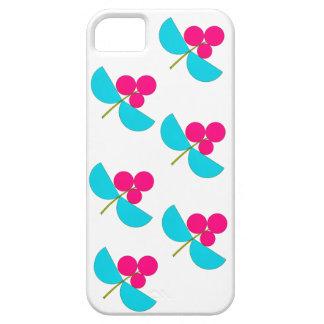 Vintage Rosa- und Türkis-Blumen iPhone 5 Cover