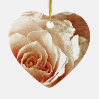 Vintage Rose Keramik Ornament