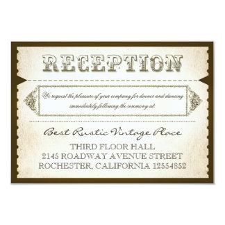 Vintage rustikale Empfangskarten - Karten 8,9 X 12,7 Cm Einladungskarte