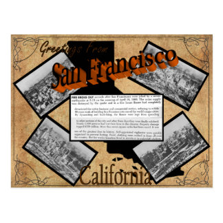 Vintage San Francisco Geschichtspostkarte Postkarte