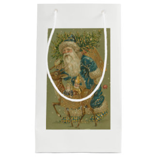Vintage Sankt mit Baum Kleine Geschenktüte