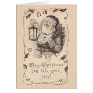 Vintage Sankt-Weihnachtsgruß-Karte Grußkarte