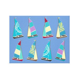 Vintage Schlauchboote Leinwanddruck