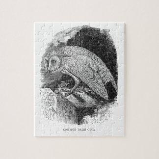 Vintage Schleiereule-Illustrations-Grafik Puzzle