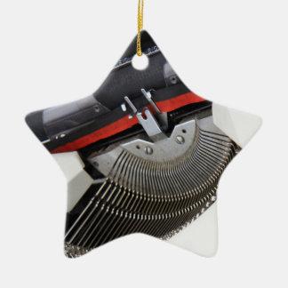 Vintage Schreibmaschine Keramik Stern-Ornament