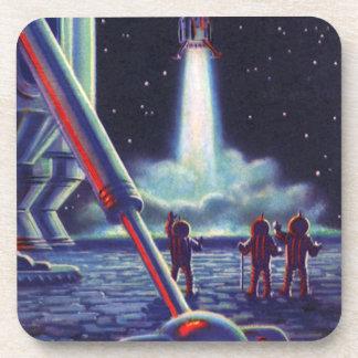 Vintage Science Fiction-Außerirdische-Welle zu Untersetzer