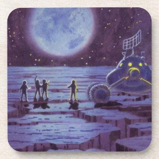 Vintage Science Fiction-Erdvagabund-Außerirdische Untersetzer
