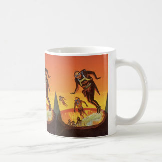 Vintage Science Fiction, Sci FI-Außerirdische im Kaffeetasse