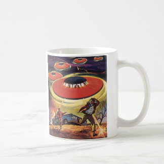 Vintage Science Fiction, Sci FI UFO-alien-Invasion Kaffeetasse