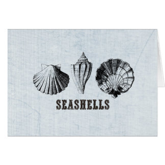 Vintage Seashells Karte