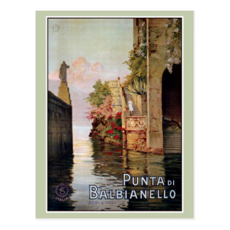Vintage See Como Lenno italienische Reiseanzeige Postkarte