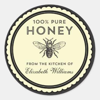Vintage selbst gemachte Honig-Aufkleber Runder Aufkleber