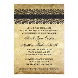 Vintage Spitze-Hochzeit 12,7 X 17,8 Cm Einladungskarte