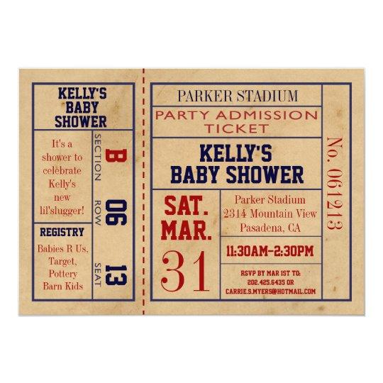Vintage Sport-Karten-Baby-Dusche laden - Fußball 12,7 X 17,8 Cm Einladungskarte