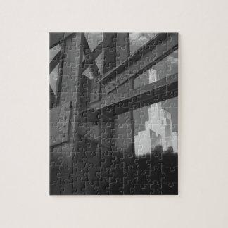 Vintage Stahlbau-Wolkenkratzer-Architektur Puzzle