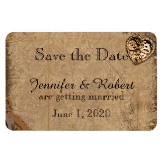 Vintage Steampunk Braut, die Save the Date Wedding Magnet