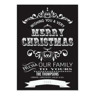 Vintage Tafel-Weihnachtsgruß Karte-midnite 12,7 X 17,8 Cm Einladungskarte