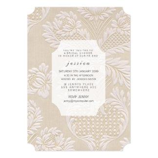 Vintage Tapeten-französisches Blumenmuster laden Individuelle Einladungskarte