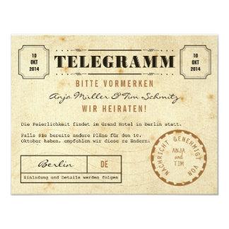 Vintage Telegramm Save the Date 10,8 X 14 Cm Einladungskarte