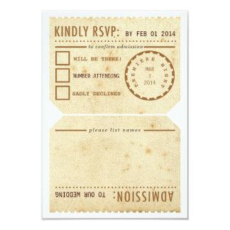 Vintage Theater-Karte UAWG Wartekarte 8,9 X 12,7 Cm Einladungskarte
