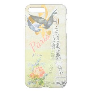 Vintage Turm-romantische Collage Paris Eiffel iPhone 8 Plus/7 Plus Hülle