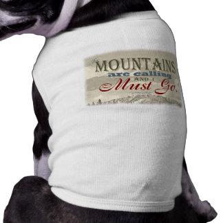 Vintage Typografie, welche die Berge nennen; Muir Top