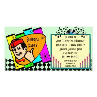 Vintage Überraschungs-Geburtstags-Party Einladung Fotogrußkarten