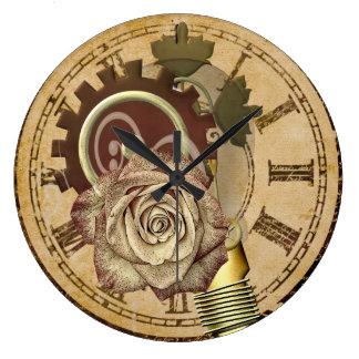 Vintage Uhr-Collage Große Wanduhr