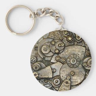 Vintage Uhr-Gang-Mechanismus-Schlüsselkette Schlüsselanhänger