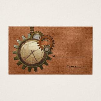 Vintage Uhr-Platzkarte, Kupfer Visitenkarte