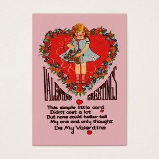 Vintage Valentines-Herz-Wreath-u. Visitenkarte