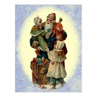 Vintage Vater-Weihnachtspostkarte Postkarte