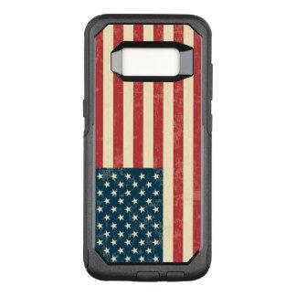 Vintage verblaßte amerikanische Flagge USA OtterBox Commuter Samsung Galaxy S8 Hülle