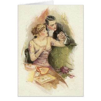 Vintage Verlobungs-Heirat-Antrag-Gruß-Karte Karte
