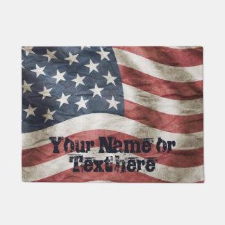 Vintage verwitterte amerikanische Flagge Türmatte