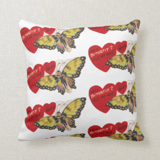 Vintage Vierzigerjahre Dame Butterfly Fairy Kissen