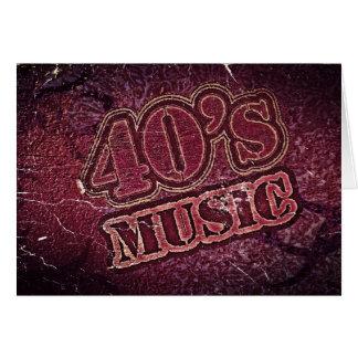 Vintage Vierzigerjahre Musik - Grußkarten