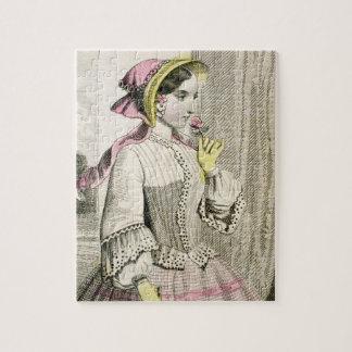 Vintage viktorianische Dame Bonnet Edwardian Puzzle