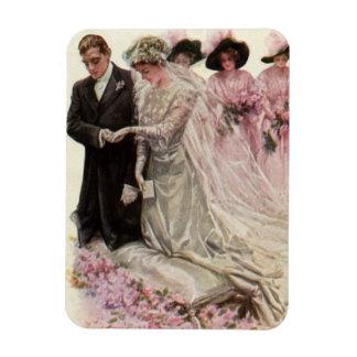 Vintage viktorianische Hochzeits-Zeremonie, Rechteckiger Fotomagnet