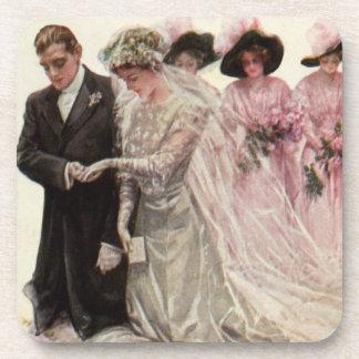 Vintage viktorianische Hochzeits-Zeremonie, Untersetzer