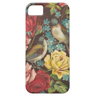 Vintage Vögel und Blumen iPhone 5 Cover