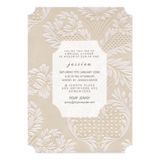 Vintage Wallpaper French Floral Pattern Invite