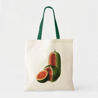 Vintage Wassermelone-hohe runde, Bio Budget Stoffbeutel