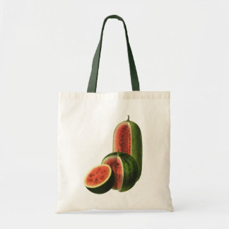 Vintage Wassermelone-hohe runde, Bio Tragetasche