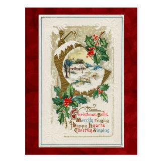 Vintage Weihnachtsbell-Postkarte Postkarte
