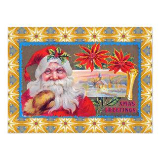 Vintage Weihnachtsgrüße 14 X 19,5 Cm Einladungskarte