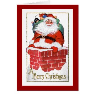 Vintage Weihnachtskarte - frohen Weihnachten Karte