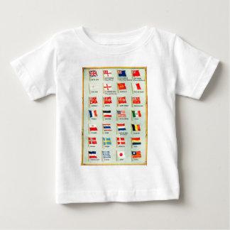 Vintage Weltflaggen Baby T-shirt